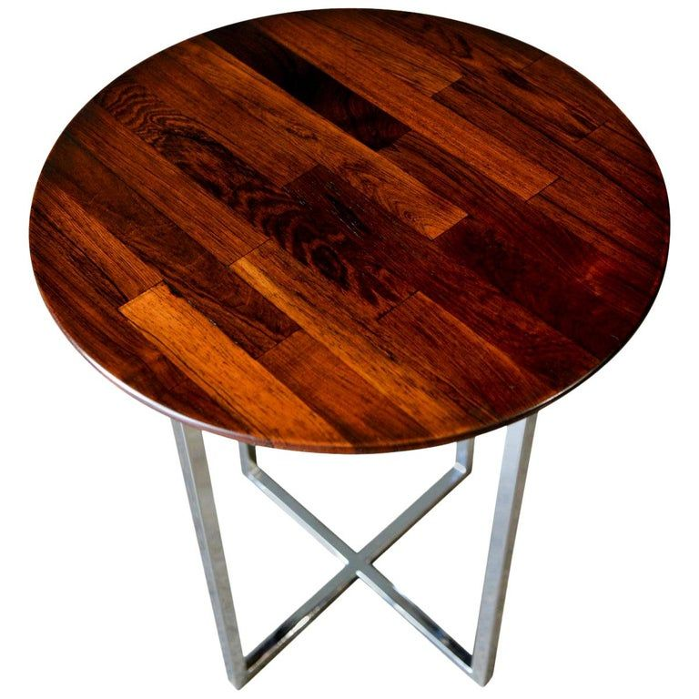 Milo Baughman Rosewood Parquet Side Table Circa 1970 Milo