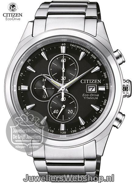 5c9ffac14bc Citizen horloge CA0650-82L Eco Drive Chrono heren TI+IP Super Titanium Blauw