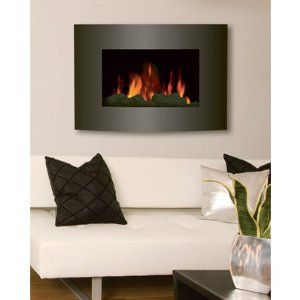 Hometech Contemporary Electric Fireplace 1 500 Watts Wall Mount
