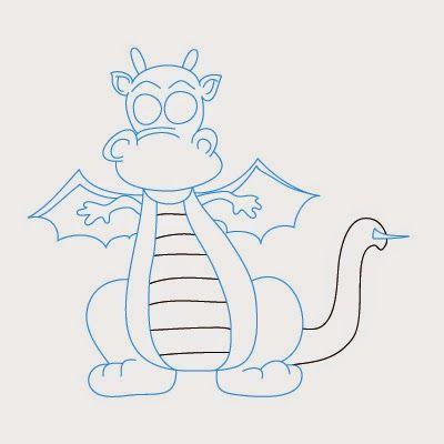 Voici un nouveau tutoriel pas pas pour comment dessiner - Modele dessin dragon ...