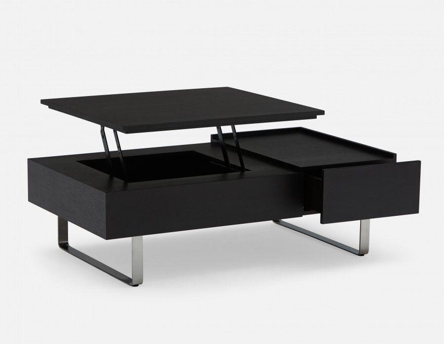 Evo Storage Coffee Table Dark Brown Coffee Table With Storage Table Coffee Table Structube