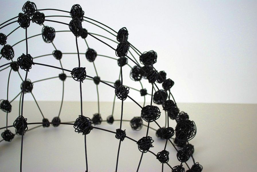 "Wire Dome III, detail  (c) Barbara Gilhooly  annealed steel wire  17"" x 23"" x 22"""