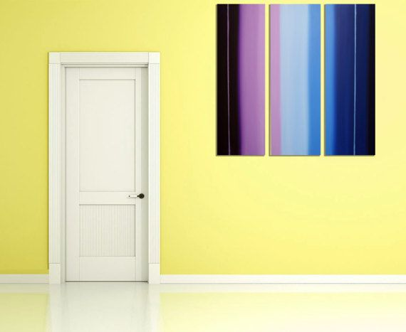 EXTRA LARGE WALL art triptych 3 panel wall art \