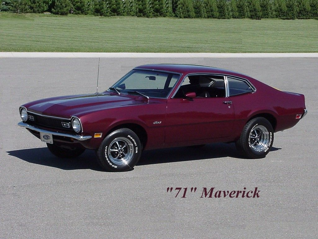 1971 ford maverick my first car mine was white