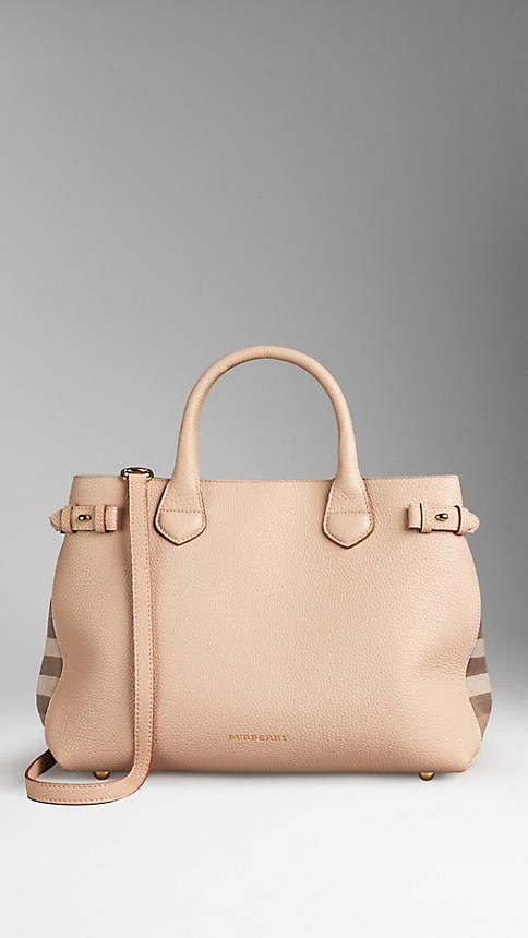 The Medium Banner in Leather and House Check from Burberry 372e9dda4a92f