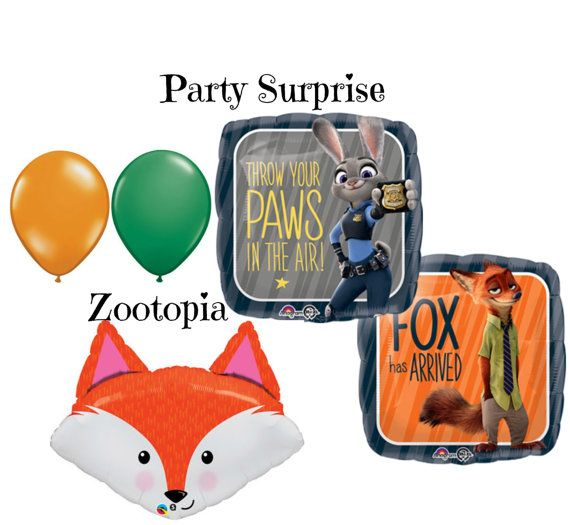 Zootopia Balloons Kids Birthday Party By PartySurprise