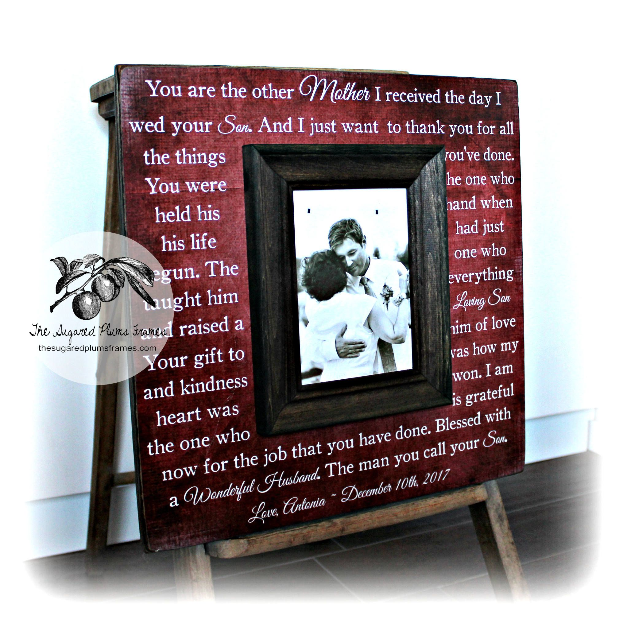 Mother of the groom wedding gift mother of the groom frame