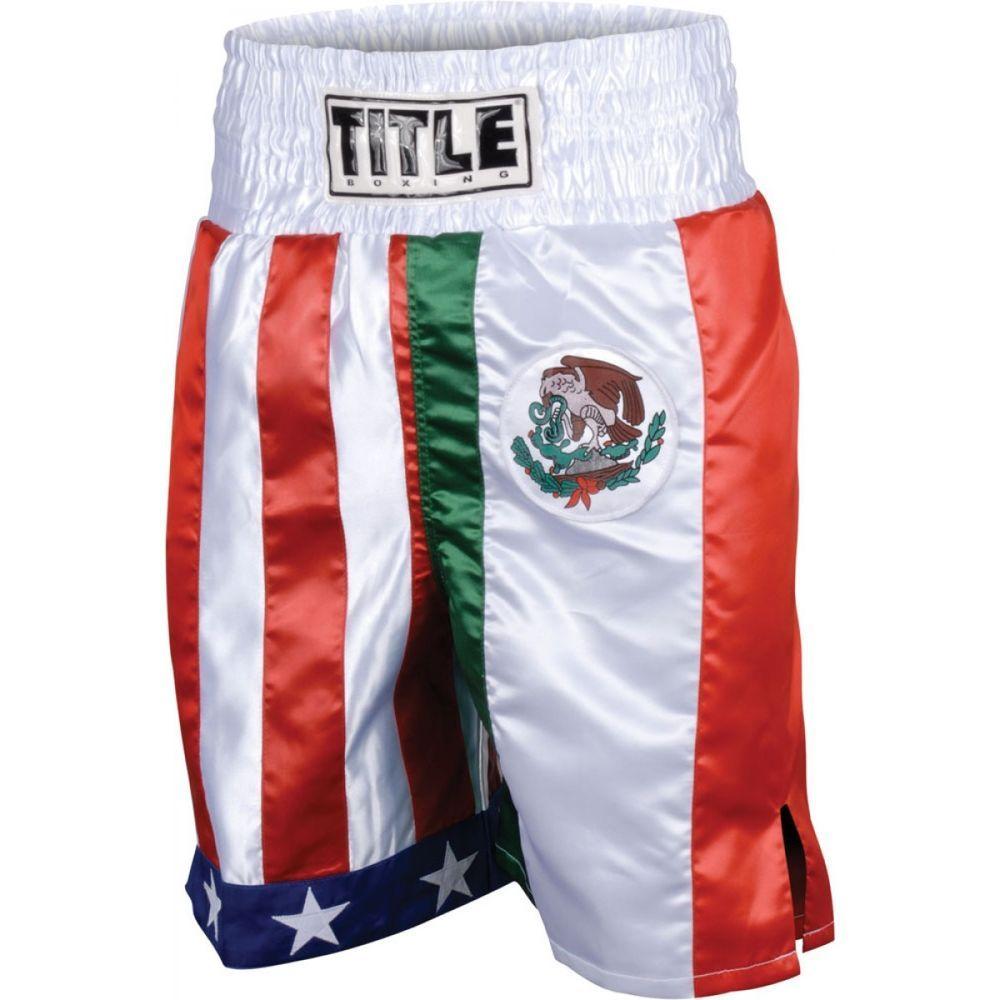 Title Boxing Flag Stock Trunks Titleboxing Title Boxing Boxing Boots Trunks