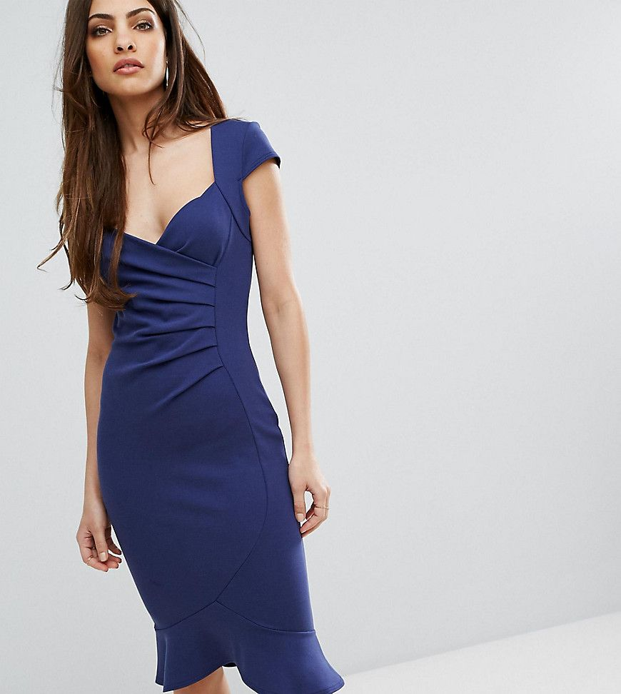 Lipsy cap sleeve midi dress with peplum products