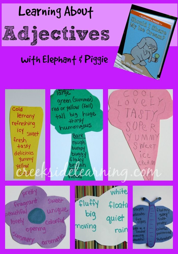 Describing With Adjectives   Writing classes, Teaching kids ...