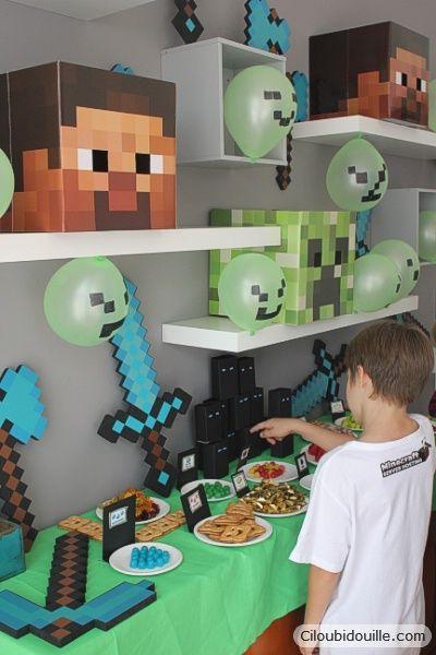 anniversaire minecraft annif minecraft anniversaire d. Black Bedroom Furniture Sets. Home Design Ideas