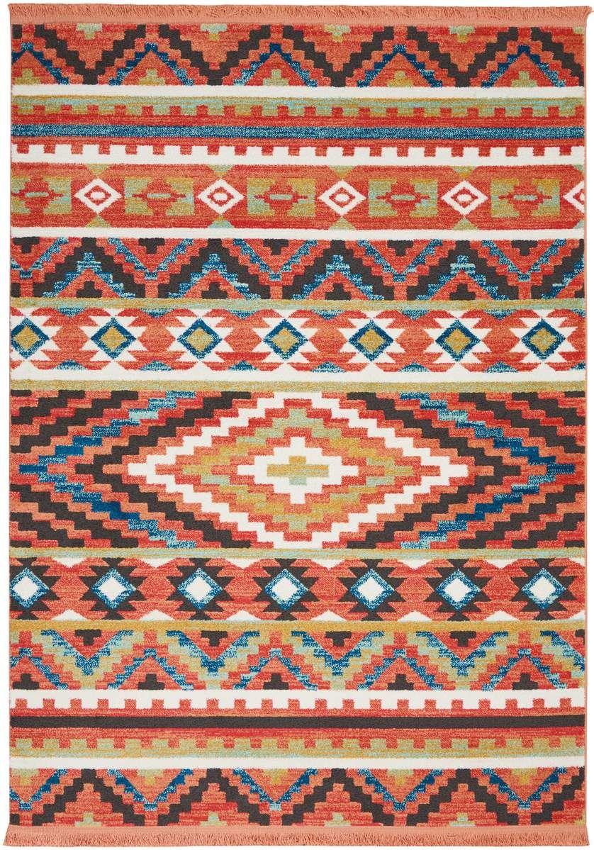 Nourison Tribal Decor Trl04 Area Rug Colorful Tribal Rug Orange Rugs Tribal Rug Decor