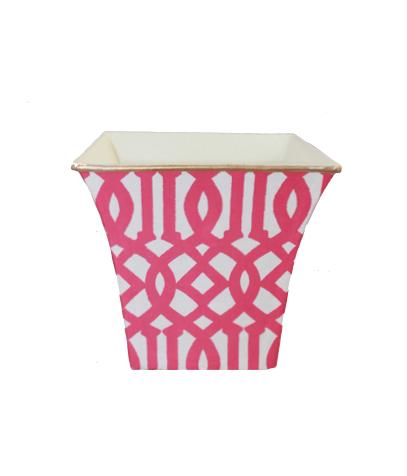 Oversized Trellis Candle — Hot Pink