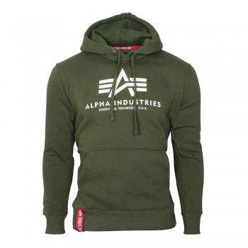ALPHA Industries Herren Kapuzenpullover Basic Hoody Dark Green (dunkelgrün)