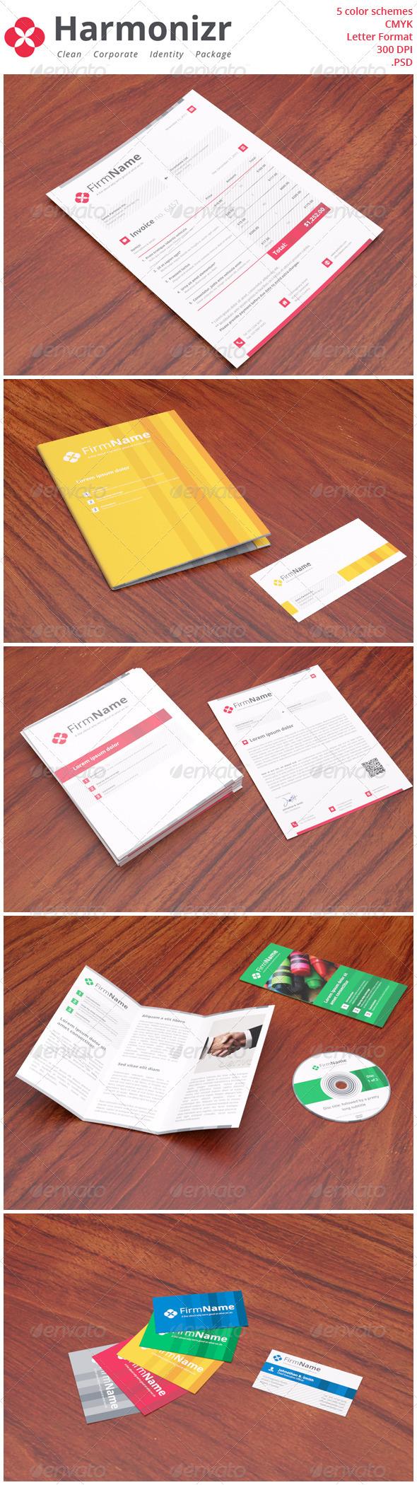 Harmonizr Clean Corporate Identity Package Corporate