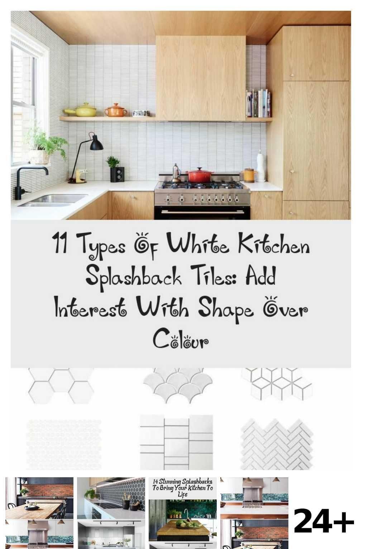 White Kitchen Brown Splashback