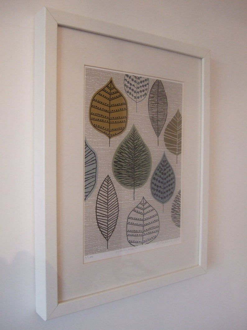 Woodland Leaves, limited edition giclee print