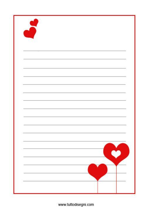 Carta lettere san valentino fogli dedica maestre - Modelli di ghirlanda stampabili ...