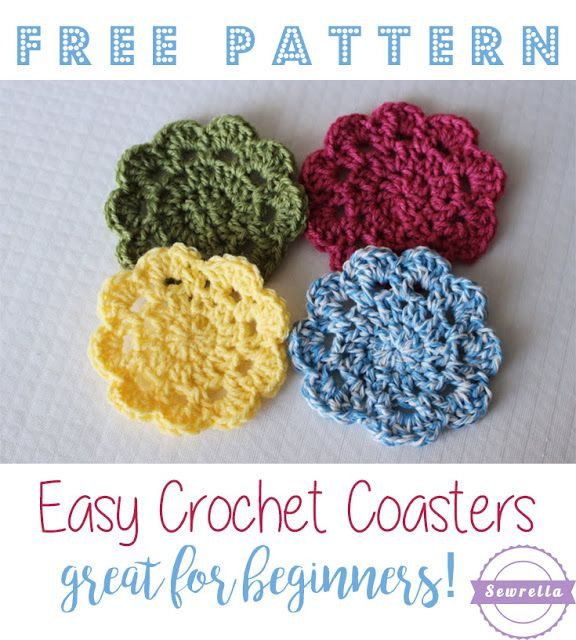 Easy Crochet Coasters Great For Beginners Crochet Coaster Easy