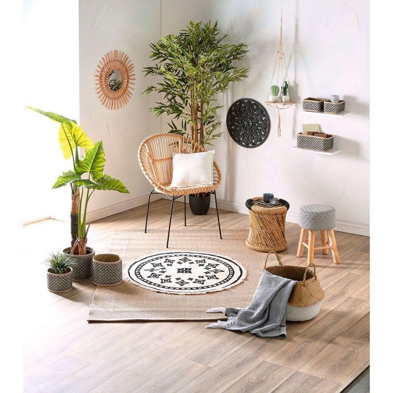 Panier Rond Nomad Osier D 18x13cm Bout De Canape Mobilier De Salon Idee De Decoration