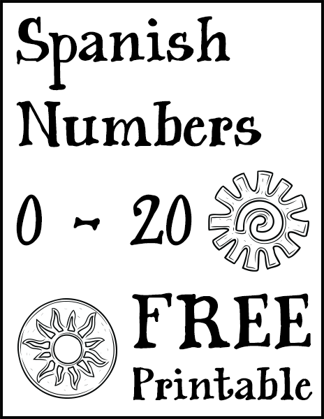 Spanish Numbers 0 - 20 Free Printable | Free printable, Spanish and ...