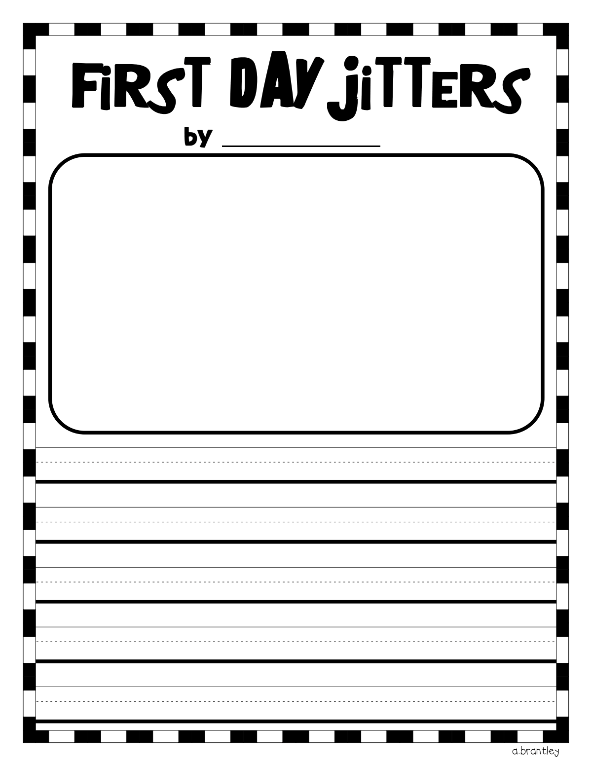 worksheet First Day Jitters Worksheets first day jitters pdf good ideas pinterest school pdf