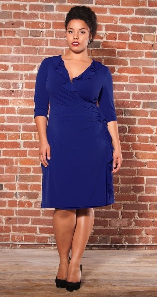 comfort and style come to together in this plus size blue faux