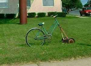 Unicycle Lawnmower: Craigslist | Riding mower, Riding lawn ...