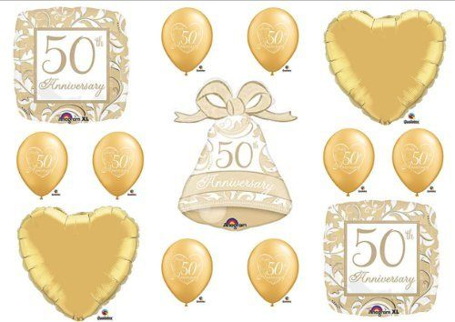 50th Anniversary Balloons Http Www Amazon Com Dp B007wnqsdq Ref Cm Sw R Pi Dp Spxdq 50th Anniversary Party Anniversary Parties 50th Wedding Anniversary Party