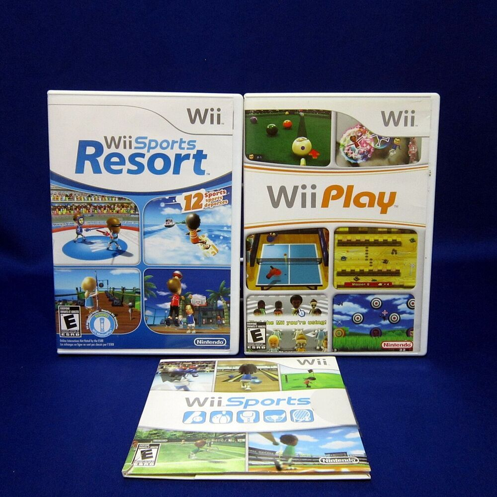 Wii Sports Resort Wii Sports & Wii Play Game Bundle All