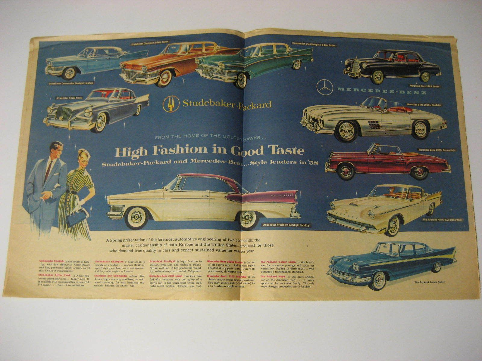 Studebaker Packard Advertisement Brochure American Weekly