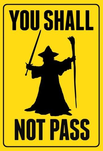 "/""You Shall Not Pass/"".. Awesome Vinyl Decal Gandalf Lord Of The Rings Tolkien 6/"""