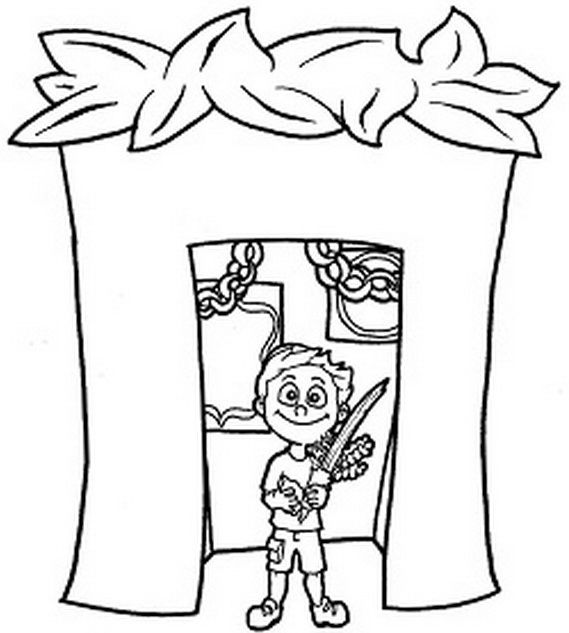 Sukkot coloring pages for Kids Sukkot Jewish crafts