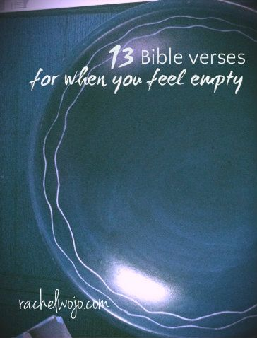 Emptiness is a difficult emotion to simply describe.When you feel empty, it's like a piece of your soul is missing.No matter the lack of fulfillment, God's Word holds the promises to combat the emptiness and find fulfillment in Christ