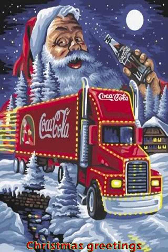 coca cola weihnachtsmann weihnachtsbilder weihnachtsszenen retro weihnachten