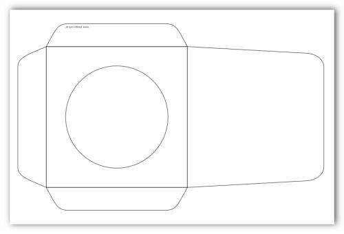 Plantilla vectorial para crear sobres para CD | 140 Geek | cajas ...