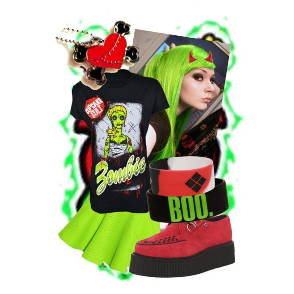 """Lime and red."" created by laura-noorlander on Polyvore"