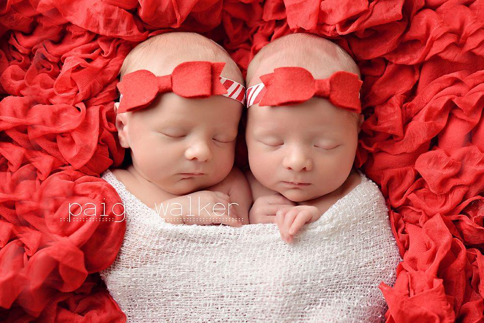 Christmas newborn twin girls newborn twin posing ideas newborn twins newborn twin photography