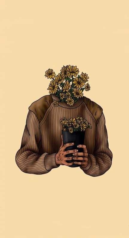 Çiçek Adam Duvar Kağıdı
