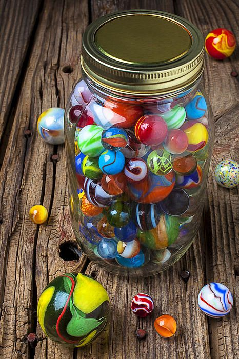 Jar of Marbles with Shooter