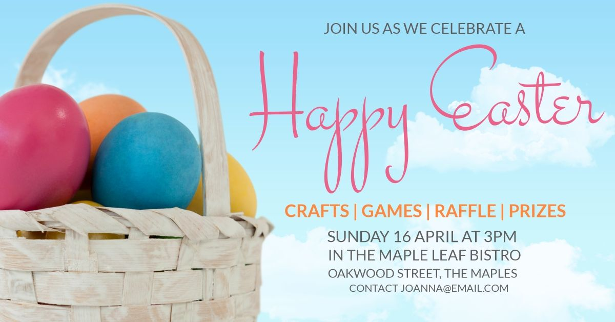 A really cool template for a happy Easter post. This includes a