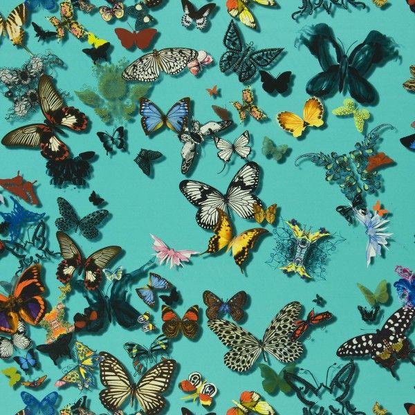 butterfly parade tissu christian lacroix materiaux mur et papillon. Black Bedroom Furniture Sets. Home Design Ideas