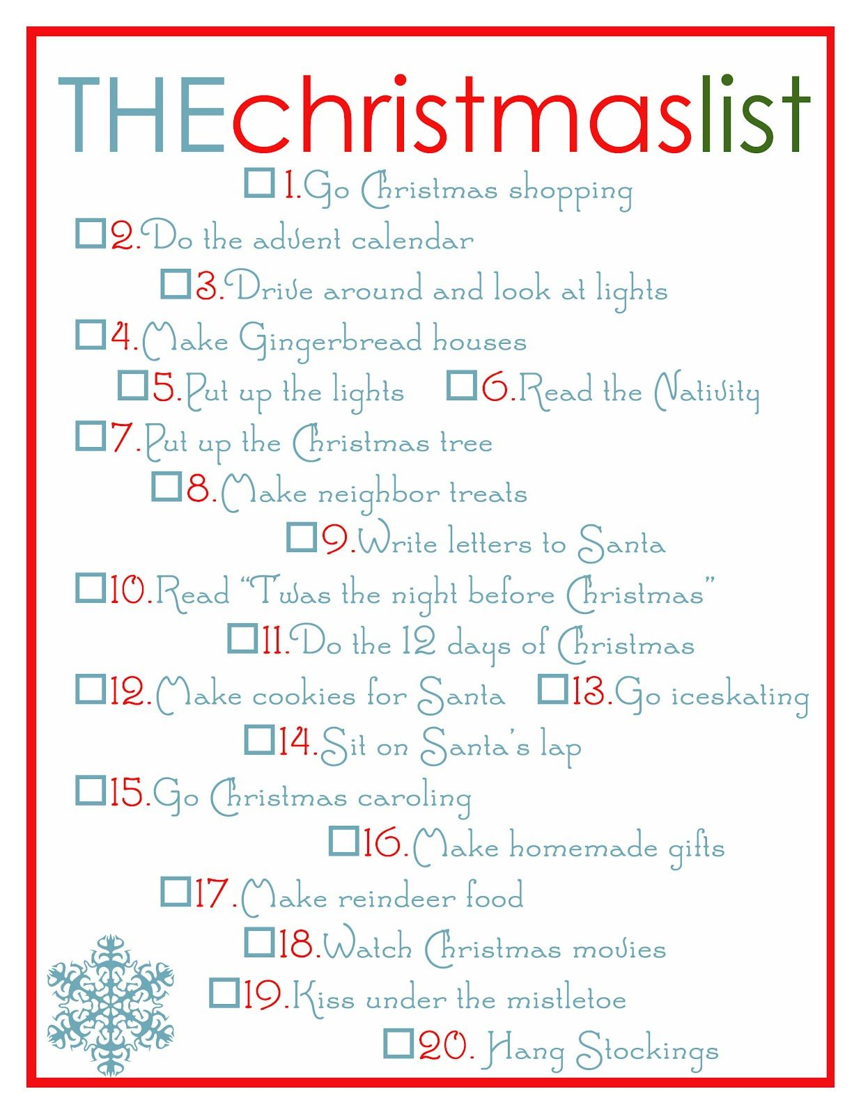 Bright And Beautiful Christmas To Do List Christmas Checklist Christmas Planning