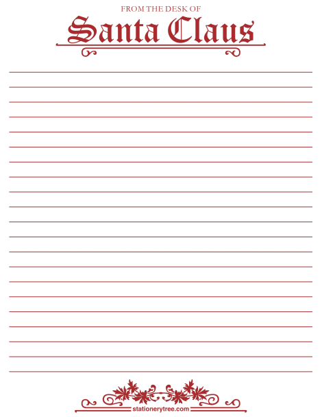 Printable from the desk of santa stationery and writing paper printable from the desk of santa stationery and writing paper free pdf downloads spiritdancerdesigns Images