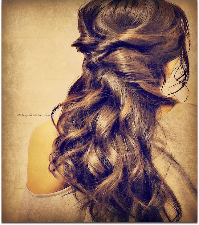 Quick easy hairstyles for school for work 3 min half up half elegant curly half updos hairstyle for medium long hair tutorial updos you can do yourself solutioingenieria Image collections