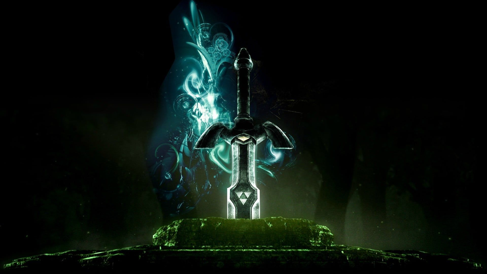 Black And Gray Sword Wallpaper The Legend Of Zelda Master Sword 1080p Wallpaper Hdwallpaper Desktop Zelda Master Sword Master Sword Legend Of Zelda