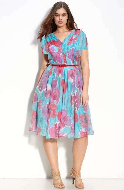 Vestidos Para Tallas Grandes Fotos Modelos Vestido Estampado Floral Moda Para Gorditas Ropa Para Gorditos Vestidos Baratos
