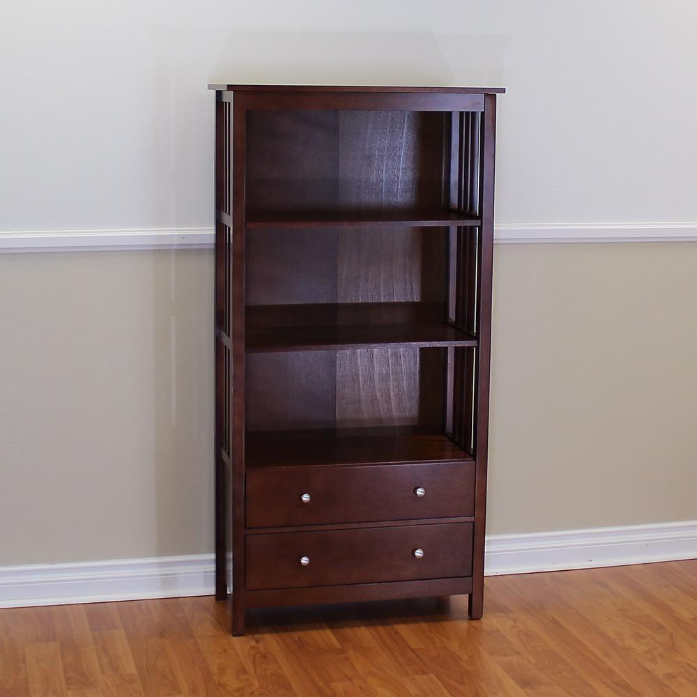 Donnieann hollydale chestnut storage open bookcase329888