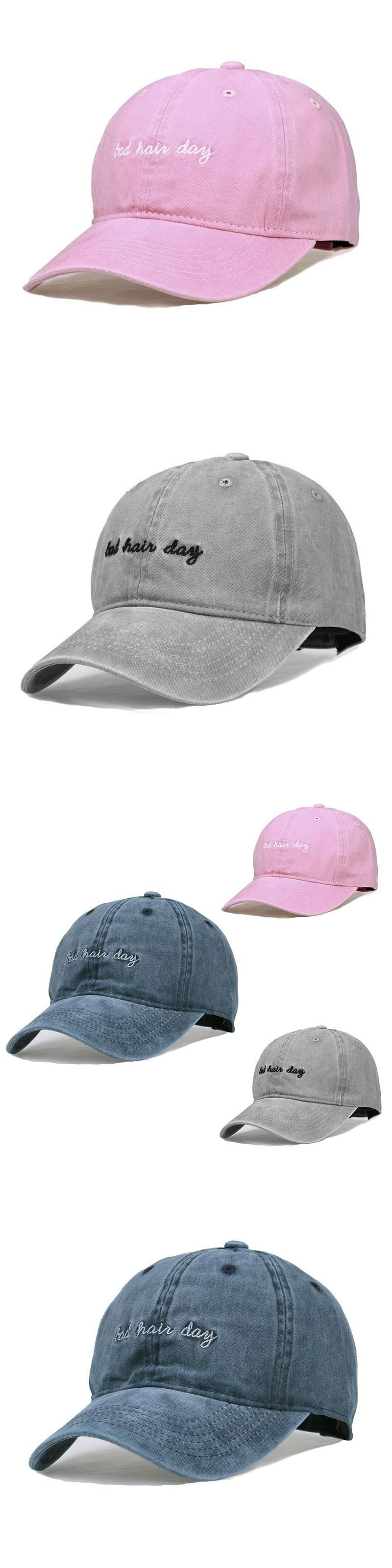 5980fa1ec77 New Caps Women Men Unisex Bad Hair Day Letters Embroidery Baseball Casual  Male Female Sun Hats Solid Color Baseball Cool Hat