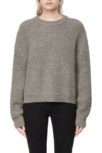 Discount Real Weekday Huge Cropped Knit - Grey Cheap Extremely z1m0OM5